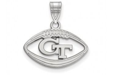 LogoArt Georgia Institute Of Technology Pendant Chain Included In Football