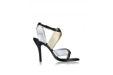 Two Tone Metallic High-Heel Sandal
