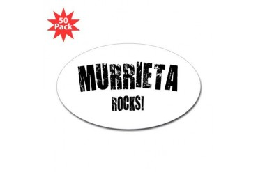 Murrieta Rocks California Sticker Oval 50 pk by CafePress