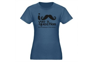 I Mustache You a Question Organic Women's Fitted T