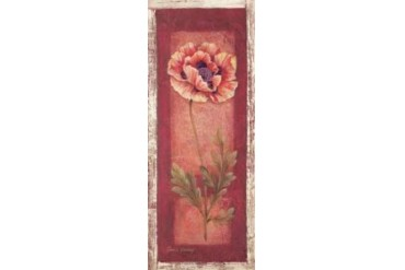 Red Door Poppy Poster Print by Pamela Gladding (24 x 48)