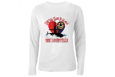 Half My Heart Military Women's Long Sleeve T-Shirt by CafePress