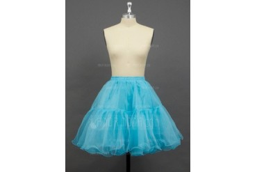 Women/Girls Organza/Polyester Short-length 2 Tiers Petticoats (037033995)