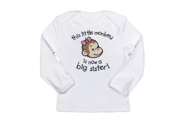 Big Sister - Monkey Face Long Sleeve Infant T-Shir