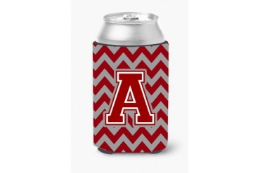 Chevron Maroon and White Beverage Insulators All sizes and letters CJ1049