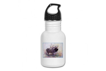 Elk Wildlfie art Art Kid's Water Bottle by CafePress