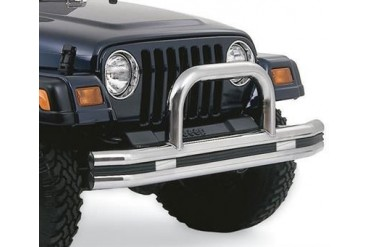 Rampage Stainless Steel Double Tube Front Bumper with Hoop  8420 Front Bumpers
