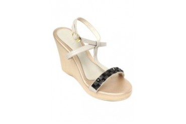 Lt. Gray Wedge Sandals