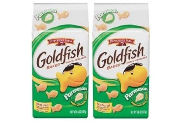 Pepperidge Farm Parmesan Goldfish Baked Snack Crackers 2 Bag Pack