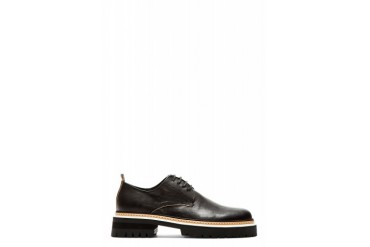 Ann Demeulemeester Black Leather Heavy Sole Derbys