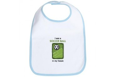 I see a Soccer Ball in my Future Sports Bib by CafePress