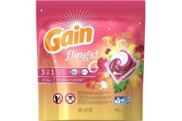 Gain Flings 3 in 1 Laundry Detergent Pacs Tropical Sunrise Scent