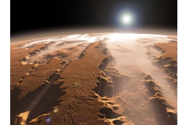 Artist s concept of the Valles Marineris canyons on Mars.