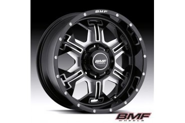 BMF Wheels S.E.R.E, 20x9 with 8 on 6.5 Bolt Pattern - Death Metal Black and Machined 463B-090816500 BMF Wheels