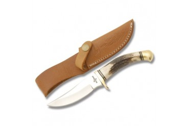 "Fox-N-Hound 8-1/2"" Upswept Skinner with Genuine Stag Handle"