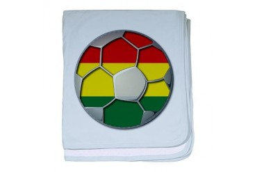 Bolivia Flag World Cup Soccer Football Futbol Ball Soccer baby blanket by CafePress