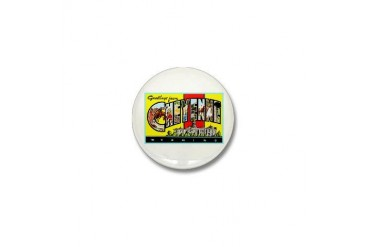 Cheyenne Wyoming Greetings Vintage Mini Button by CafePress
