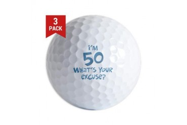 50th birthday excuse Golf Balls