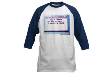 Press 1...Proceed in English -Blu Cupsthermosreviewcomplete Baseball Jersey by CafePress