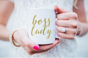Gold Boss Lady Coffee Mug