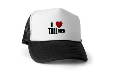 i Love Tall Men Love Trucker Hat by CafePress