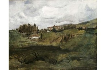 Tuscan Landscape Poster Print by John Henry Twachtman (24 x 30)