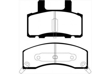 EBC Brakes Yellowstuff Street And Track Brake Pads DP41274R Disc Brake Pads