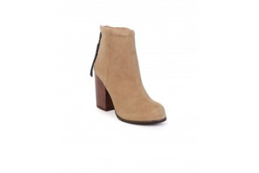 Jeffrey Campbell 'Rumble' Back Zip Bootie Taupe, 8.5