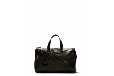 Marsll Black Leather Monouso Duffle Bag