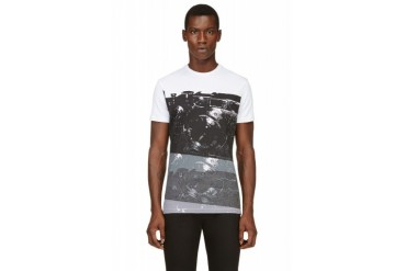 Costume National White And Black Camera Print T shirt