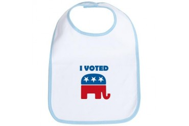 I Voted Republican Political Bib by CafePress