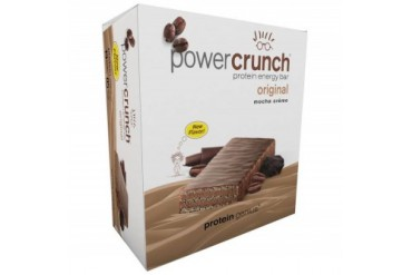 Power Crunch Protein Genius Mocha Creme 12ct Energy Bar Wafer Cookie Snack