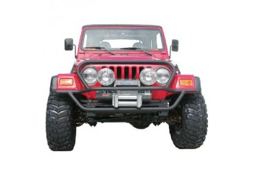 Olympic 4x4 Products A/T Slider Front Bumper with Hood Protection Textured Black 172-124 Front Bumpers