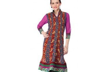 Multicoloured Georgette Kurti