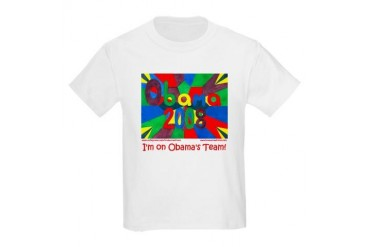 Barack Obama TEAM OBAMA Kids Light T-Shirt