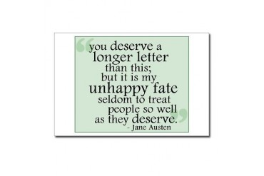 Jane Austen Quotes Postcards Package of 8 by CafePress