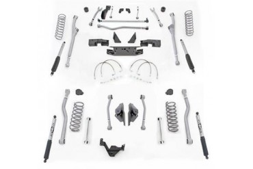 Rubicon Express 4.5 Inch Extreme Duty Radius Front/Rear 4-Link Long Arm Lift Kit - No Shocks JKR424M Complete Suspension Systems and Lift Kits