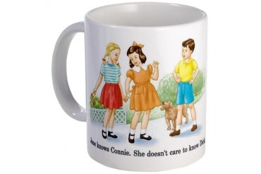 Jane Knows Connie She... Lesb Funny Mug by CafePress