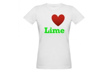 i-love-lime-dark-tee.png Humor Organic Women's T-Shirt by CafePress