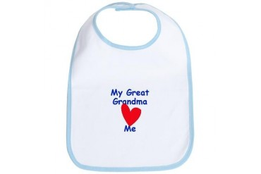 My Great Grandma Loves Me Cotton Grandma Bib by CafePress