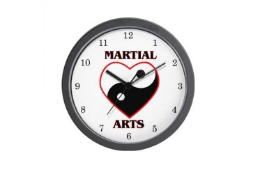 Love Martial Arts Sports Wall Clock by CafePress