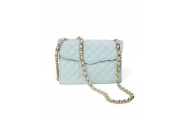 Rebecca Minkoff 'Mini Affair' Quilted Light Turquoise Handbag Lite Blue