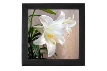 Easter Lily Religion Keepsake Box by CafePress