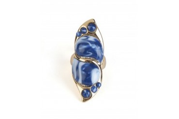 Rose Pierre 'Catalina' Swirl Cocktail Ring Blue, 7