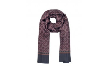 Modal and Silk Floral Print Men's Scarf