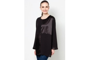 Ethnic Chic Ayu Satin Long Sleeve Blouse