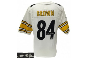 Antonio Brown Signed Pittsburgh Steelers Nike Game White Jersey JSA