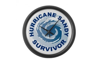 Hurricane Sandy Survivor 2012 New york Large Wall Clock by CafePress