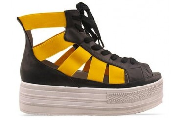 Fessura Double Star in White Black Yellow size 7.0