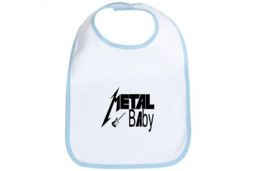 Oh Baby Heavy Metal Baby Funny baby Bib by CafePress